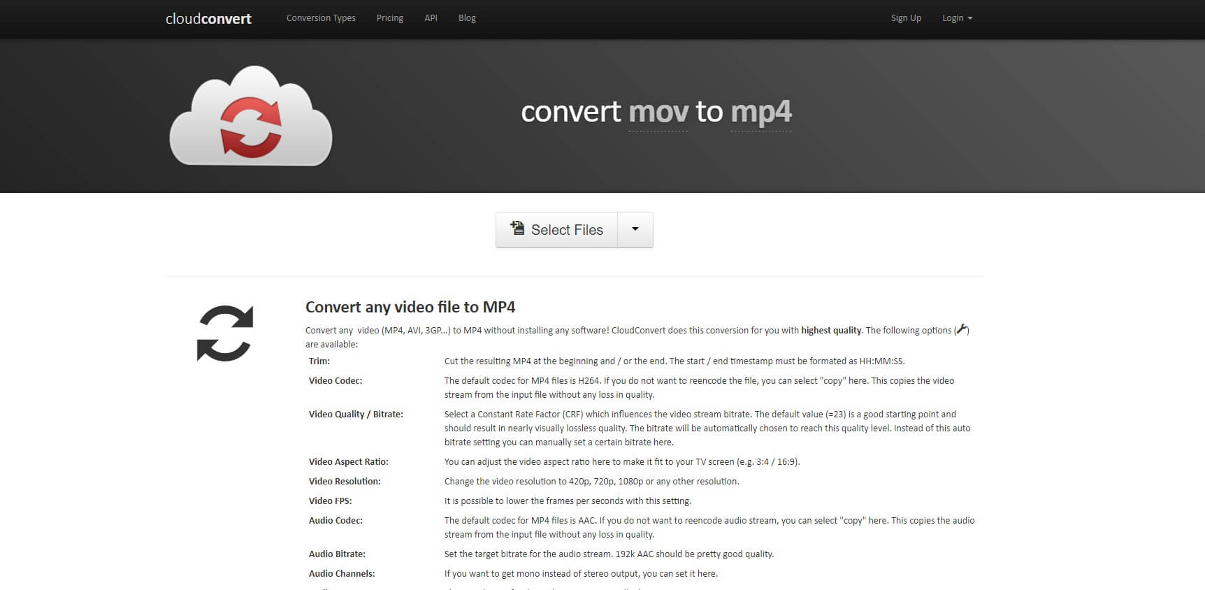 Cloud convert mov to mp4
